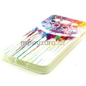 Gélový obal pre Samsung Galaxy A3    - stékající farby - 2
