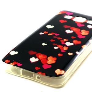 Gélový obal pre Samsung Galaxy A3    - srdiečka - 2