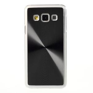Metalický plastový obal na Samsung Galaxy A3 - čierny - 2