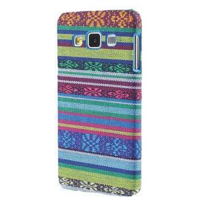 Obal potažený látkou pre Samsung Galaxy A3    - mix barev I - 2