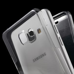 Gélový obal 2v1 pro zadní kryt a displej pre Samsung Galaxy A5 (2016) - šedý - 2