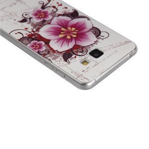Ultratenký gelový slim obal na Samsung Galaxy A5 (2016) - květ - 2