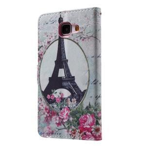 Koženkové puzdro pre Samsung Galaxy A5 (2016) - Eiffelova veža - 2