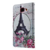 Koženkové puzdro pre Samsung Galaxy A5 (2016) - Eiffelova veža - 2/6