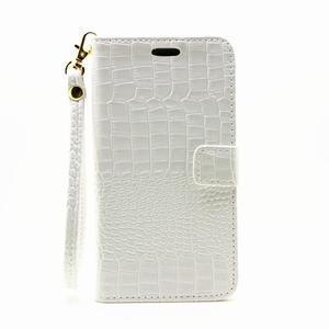 Croco peňaženkové puzdro Samsung Galaxy A5 (2016) - biele - 2