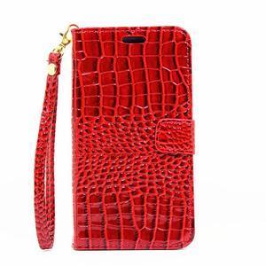 Croco peněženkové pouzdro Samsung Galaxy A5 (2016) - červené - 2