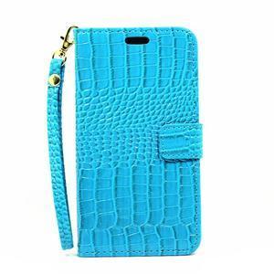Croco peňaženkové puzdro Samsung Galaxy A5 (2016) - modré - 2