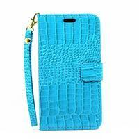 Croco peňaženkové puzdro Samsung Galaxy A5 (2016) - modré - 2/6