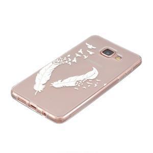 Transparentný gélový obal pre Samsung Galaxy A5 (2016) - vtáčie pierka - 2