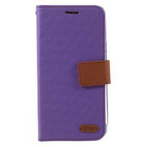 Roarlux peněženkové pouzdro na Samsung Galaxy A5 (2016) - fialové - 2