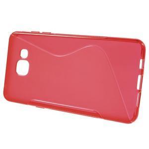 S-line gélový obal pre mobil Samsung Galaxy A5 (2016) - červený - 2