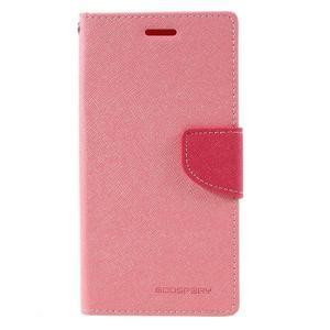 Fancy pouzdro na mobil Samsung Galaxy A5 (2016) - růžové - 2