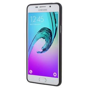Gélový obal s koženkovým vzorem pre Samsung Galaxy A5 (2016) - kvety - 2