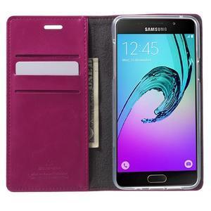 Moon PU kožené pouzdro na Samsung Galaxy A5 (2016) - rose - 2