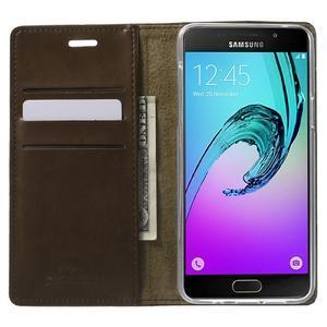 Moon PU kožené puzdro pre Samsung Galaxy A5 (2016) - coffee - 2