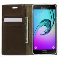 Moon PU kožené puzdro pre Samsung Galaxy A5 (2016) - coffee - 2/7