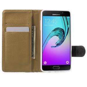 Květinové peněženkové pouzdro na Samsung Galaxy A5 (2016) - černé - 2
