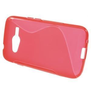 Gélové s-line puzdro na Samsung Galaxy Ace 4 - červené - 2