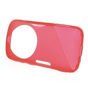 Červený s-line gélový kryt na Samsung Galaxy K Zoom C115 - 2