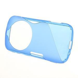 Modrý s-line gélový kryt na Samsung Galaxy K Zoom C115 - 2