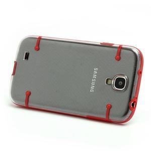 Obal na mobil se svítícími hranami na Samsung Galaxy S4 - červené - 2
