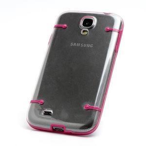Obal na mobil se svítícími hranami na Samsung Galaxy S4 - rose - 2