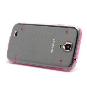 Obal pre mobil se svítícími hranami pre Samsung Galaxy S4 - ružové - 2