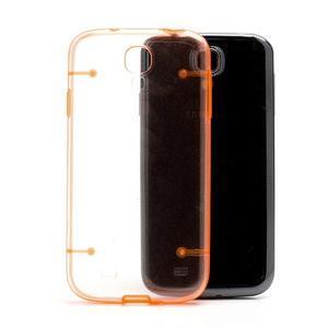 Obal na mobil se svítícími hranami na Samsung Galaxy S4 - oranžové - 2