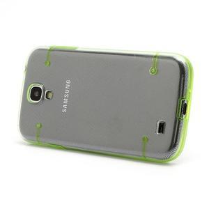 Obal pre mobil se svítícími hranami pre Samsung Galaxy S4 - zelené - 2