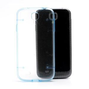 Obal pre mobil se svítícími hranami pre Samsung Galaxy S4 - modré - 2