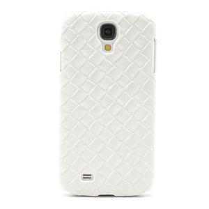 PU kožené puzdro pre Samsung Galaxy S4 - biele - 2