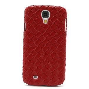 PU kožené puzdro pre Samsung Galaxy S4 - červené - 2