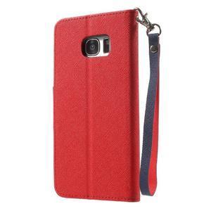 Mercury Orig PU kožené puzdro pre Samsung Galaxy S7 - červené - 2