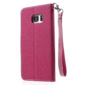 Mercury Orig PU kožené pouzdro na Samsung Galaxy S7 - rose - 2