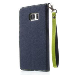 Mercury Orig PU kožené pouzdro na Samsung Galaxy S7 - tmavěmodré - 2