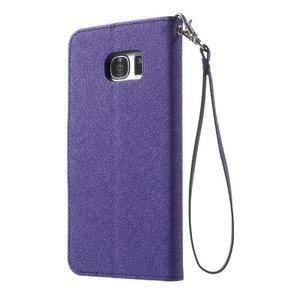 Mercury Orig PU kožené pouzdro na Samsung Galaxy S7 - fialové - 2