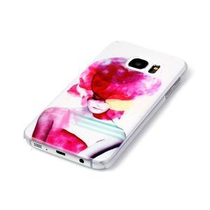 Plastový obal pre mobil Samsung Galaxy S7 - dívka - 2