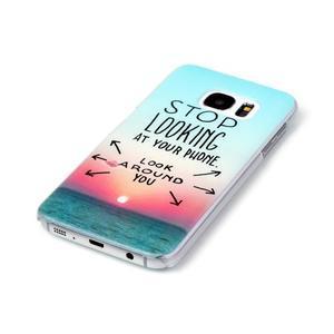 Plastový obal na mobil Samsung Galaxy S7 - dívej se kolem sebe - 2