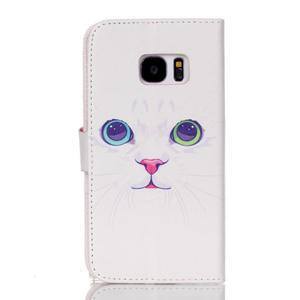 Cross peňaženkové puzdro pre Samsung Galaxy S7 - mačička - 2