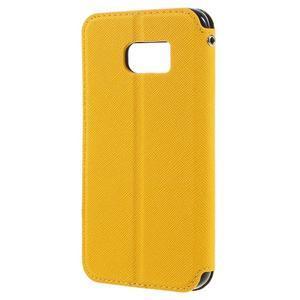 Diary puzdro s okienkom pre Samsung Galaxy S7 - žlté - 2
