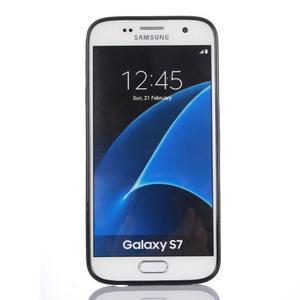 Odolný hybridní kryt na mobil Samsung Galaxy S7 - modrý - 2