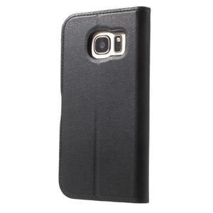 Leat PU kožený obal pre Samsung Galaxy S7 - čierný - 2