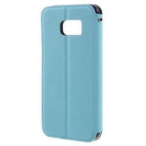 Diary pouzdro s okýnkem na Samsung Galaxy S7 - světlemodré - 2