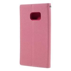 Goosper PU kožené puzdro pre Samsung Galaxy S7 - ružové - 2