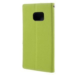 Goosper PU kožené puzdro pre Samsung Galaxy S7 - zelené - 2