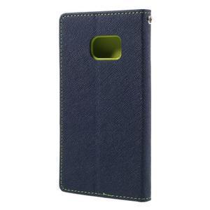 Goosper PU kožené puzdro pre Samsung Galaxy S7 - tmavomodré - 2