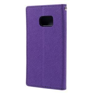 Goosper PU kožené puzdro pre Samsung Galaxy S7 - fialové - 2