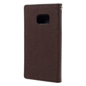 Goosper PU kožené puzdro pre Samsung Galaxy S7 - hnedé - 2