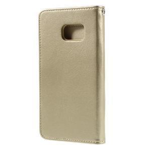 Luxury PU kožené pouzdro na Samsung Galaxy S7 - zlaté - 2