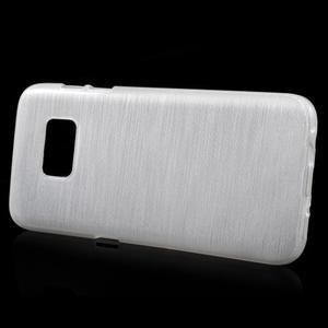 Brush gélový obal pre mobil Samsung Galaxy S7 - biely - 2